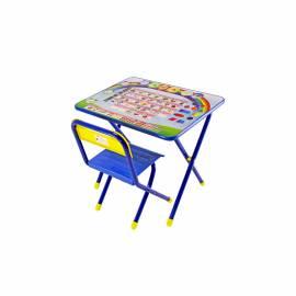 "Набор складной мебели №1 (стол + стул) ДЭМИ ""Алфавит (синий)"", 2 группа"