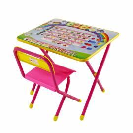 """Набор складной мебели №1 (стол + стул) ДЭМИ """"Алфавит (розовый)"""", 2 группа"""