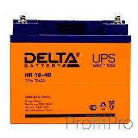 Delta HR 12-40 (40 А\ч, 12В) свинцово- кислотный аккумулятор