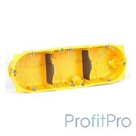 Legrand 80053 Коробка Batibox для сухих перегородок, 3 поста, 50мм