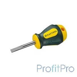 """Отвертка KRAFTOOL """"EXPERT"""", Cr-Mo-V сталь, двухкомпонентная противоскользящая рукоятка, SL, 5,5x38 мм [250071-5.5-038]"""