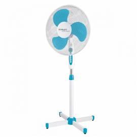 Вентилятор напольный Scarlett SC-SF111B12, подсветка, белый/голубой