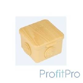EKF plc-kmr2-030-036-s Коробка распаячная КМР-030-036 пылевлагозащитная, 4 мембранных ввода (73х73х49) светлое дерево EKF PROx