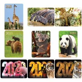 """Календарь карманный Hatber """"Животные"""", глянцевая ламинация, 2020г"""