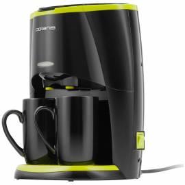Кофеварка капельная Polaris PCM 0210, 450Вт, 0,2л, черная