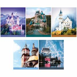 "Тетрадь 80л., А5, линия ArtSpace ""Путешествия. Mysterious castle"", ВД-лак"