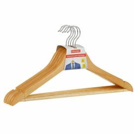 Вешалка-плечики Office Clean, набор 5шт., деревянные, с перекладиной, 45см, цвет натуральный