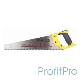 "Ножовка STAYER ""MASTER"" по дереву, двухкомпонентная рукоятка, закаленный зуб, 5 TPI (5мм), 400мм [1506-40_z01]"