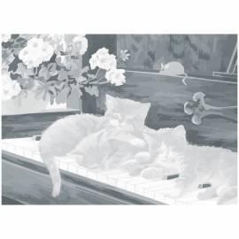 """Холст на картоне с контуром Сонет """"Котята"""", 30*40см"""