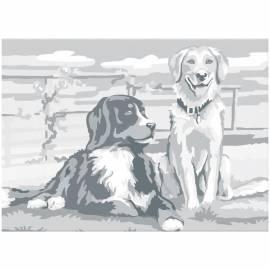 "Холст на картоне с контуром Сонет ""Собаки"", 30*40см"