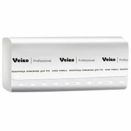 """Полотенца бумажные лист. Veiro Professional """"Comfort"""" (V-сл) 1 слойн.,250л/пач.,21*21,6,тисн., белые"""
