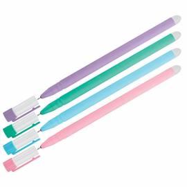 """Ручка гелевая стираемая OfficeSpace """"Soda"""" синяя, 0,5м, антискол. корпус ассорти"""