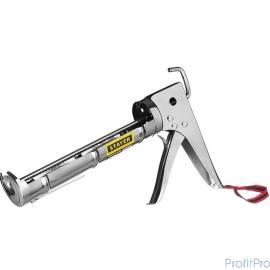 """STAYER """"PROFESSIONAL"""". Пистолет для герметика, полукорпусной, хромированный, зубчатый шток, 310мл [0662]"""