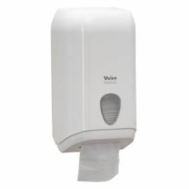 """Диспенсер для туалетной бумаги листовой Veiro Professional """"L-one"""", пластик, механический, белый"""