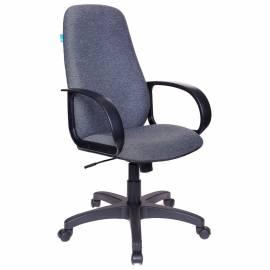 Кресло руководителя Бюрократ CH-808AXSN/G, PL, ткань серая 3C1