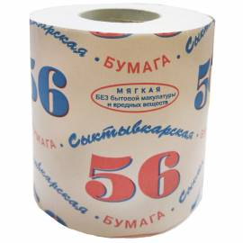 """Бумага туалетная """"Сыктывкарская 56"""", 1 слойн., белая"""