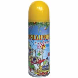 Серпантин синтетический в спрее, 250мл, желтый