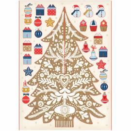 """Новогодний набор для творчества """"Наряди Елочку сам. Новогодняя елка бежевая"""", картон, 20см"""