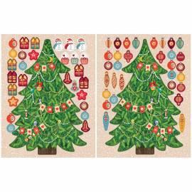 "Новогодний набор для творчества ""Наряди Елочку сам. Новогодняя елка зеленая"", картон, 20см"