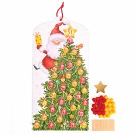 "Новогодний набор для творчества ""Елка-календарь. Дед Мороз"", 46,5*21см"