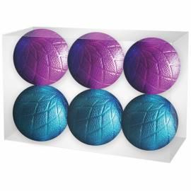Набор пластиковых шаров 6шт, 60мм, фуксия/голубой, пластиковая упаковка