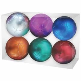 Набор пластиковых шаров 6шт, 60мм, ассорти, пластиковая упаковка