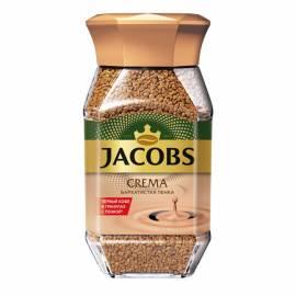 """Кофе растворимый Jacobs """"Crema"""", сублимированный, стеклянная банка, 95г"""