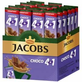 """Кофе растворимый Jacobs """"Choco"""", с какао-порошком, 4 в 1, порционный 24 пакетика*12г"""