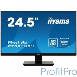 "IIYAMA 24.5"" E2591HSU-B1 черный TN LED 1920x1080 1ms 16:91000:1 250cd D-Sub HDMI DisplayPort"