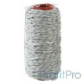 Фал плетёный капроновый СИБИН 16-прядный с капроновым сердечником, диаметр 6 мм, бухта 100 м, 650 кгс [50220-06]