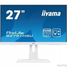 """IIYAMA 27"""" B2791HSU-W1 белый TN LED 1920x1080 1ms 16:9 300cd 170гр/160гр HDMI D-Sub DisplayPort 2Wx2"""