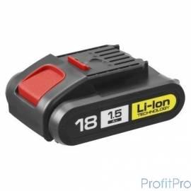 "ЗУБР ""МАСТЕР"" [АКБ-18-Ли 15М4] Батарея АКБ Li-Ion, тип ""М4"", 1.5Ач, 18В"