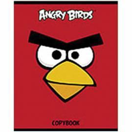 """Тетрадь 48л. А5 клетка """"ANGRY BIRDS"""", выборочный лак"""