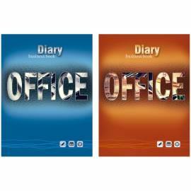 """Ежедневник недатированный, A6, 136л. 7БЦ """"Office work"""", глянцевая ламинация, выборочный  лак"""