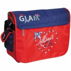 """Сумка """"Glam line"""" 28*34*10см, 2 отделения, 2 кармана, красный/синий"""