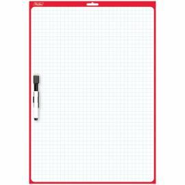 Доска для рисования с маркером двухсторонняя 340*490мм