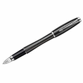 """Ручка Пятый пишущий узел """"Urban Premium Ebony Metal Chiselled CT"""" черная, 0,8мм, подар. уп."""