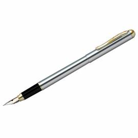 "Ручка перьевая ""Velvet Prestige"" синяя, 0,8мм, корпус хром/золото, пластик.футляр"