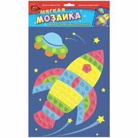 """Мозаика на самоклеящейся основе """"Для самых маленьких - Ракета"""" из мягкого пластика"""
