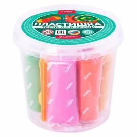 "Тесто для лепки 7 цветов*24гр, ""Пластишка"", пластиковый стакан"