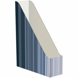 Накопитель-лоток архивный Атлант(микрогофрокартон), ширина 75мм, серый с полосками