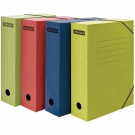 Папка архивная из микрогофрокартона OfficeSpace на резинках, ширина корешка 75мм, ассорти