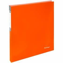 "Папка на 2-х кольцах Berlingo ""Neon"", 25мм, 700мкм, неоновая оранжевая"