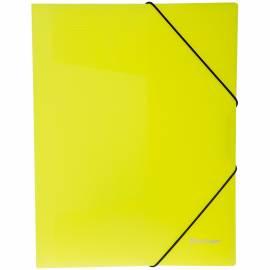 """Папка на резинке Berlingo """"Neon"""" А4, 500мкм, неоновая желтая"""