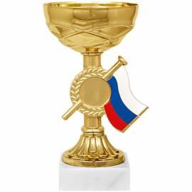 "Кубок ""Гелла"", металл, золото/триколор, основание мрамор, 15см"