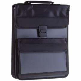 """Сумка деловая Berlingo """"Office Soft"""" полиэстер, темно-серый, 2 отделения, защелк. клапан, с ремнем"""