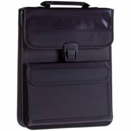 """Сумка деловая Berlingo """"Office Soft"""" полиэстер, черный, 2 отделения, защелк. клапан, с ремнем"""