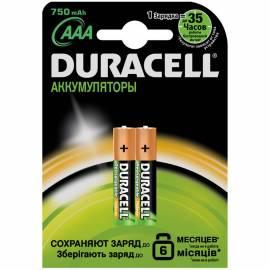 Аккумулятор HR03 DURACELL  750mAh 2шт в блистере