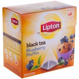 """Чай Lipton """"Blueberry Muffin"""", черный с ароматом черничного кекса, 20 пакетиков-пирамидок по 1,6г"""