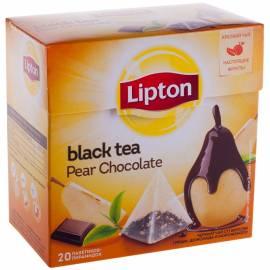 """Чай Lipton """"Black Pear Chocolate"""", черный с грушей, морож, шоколадом, 20 пакетиков-пирамидок по 1,6г"""